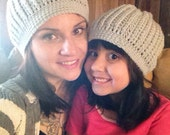 Matching Mommy and Me Slouchy Beanie Hats