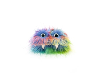 Trixy the Eco Friendly Monster - Rainbow Furry Altered Altoids Tin Great for gift cards, party favors, teen or child wallet - Kawaii