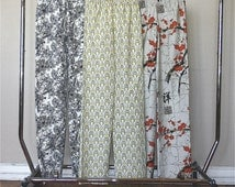 Womens Pajama Pants.  PJ's.  Pajama Bottoms.  Bridesmaids Pajama Set.  Pajama Set. PJ Set. CUSTOM.  Choose your fabric and size.