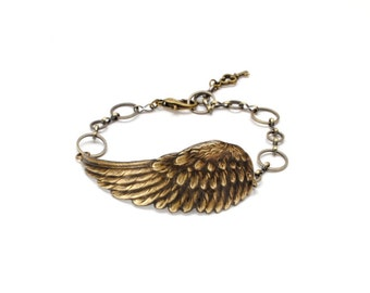 Steampunk Bracelet Steam Punk Bracelet Wings Angel Wing Bracelet Steam Punk Flight Bird Nature Steampunk Jewelry By Victorian Curiosities