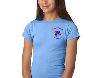 FishHawk Creek Elementary Uniform Girls' and Juniors' Fine Jersey Longer Length T-Shirt 4 Colors to Choose From