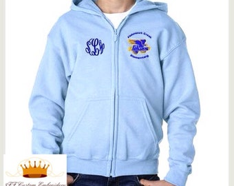 FishHawk Creek Elementary Uniform ADD an embroidered NAME or Monogram to the Right Chest