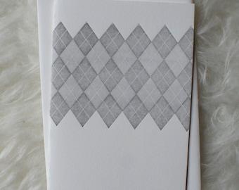 Argyle Letterpress Card