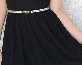 Wedding Belt - Bridal Belt - Gold Belt - Net Belt - White belt - Wedding Dress Belt - Wedding Gown Belt - Bridal Accessories