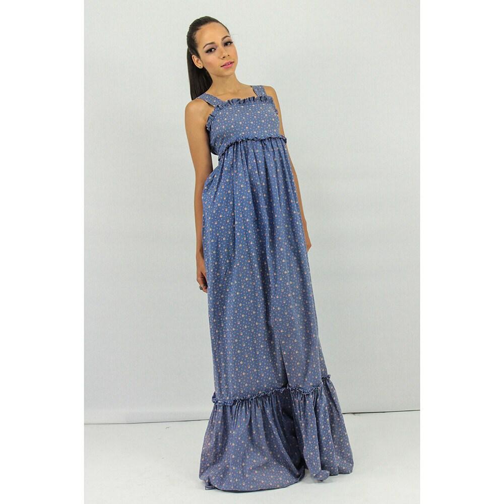 Ashley Sale: Vintage LAURA ASHLEY / Maxi Dress / 70s Dress / By