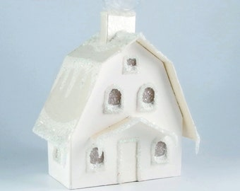 Glitter House Ornament - Dutch Colonial
