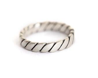 Men's Wedding Band, Silver Wedding Band, Men's Silver Wedding Ring