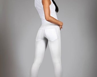 Items similar to Stormtrooper Leggings, Black & White Spandex ...