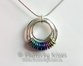 Serenity Chainmaille Pendant - Choice of Rainbow, Green, Purple, or Teal