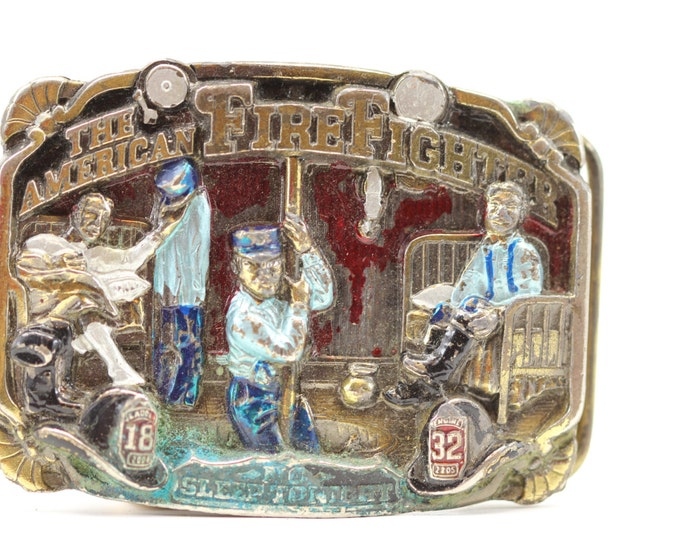 Vintage Fire Fighter Belt Buckle | The American Fire Fighter Belt Buckle Fireman - Vintage - BB13
