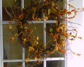 Summer Wreath , Bittersweet Wreath , Fall Wreath For The Door , Outdoor Wreath , Wild Bittersweet