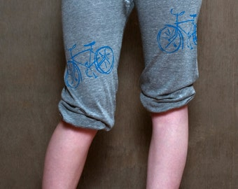 pop a wheelie Bike Pants, Yoga Pants, Lightweight Pants, Capris, S,M,L,XL