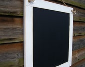 Large White Square Chalkboard,upcycled, rustic home decor kitchen blackboard