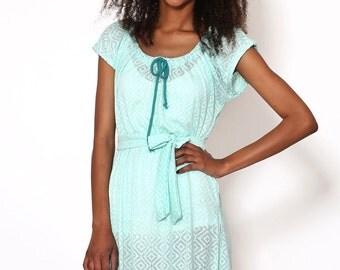 SALE --40% OFF light dress Casual chic Summer dress comfortable dress comfortable.tonit mint dress simple fun lighTunic dress Tunic dress