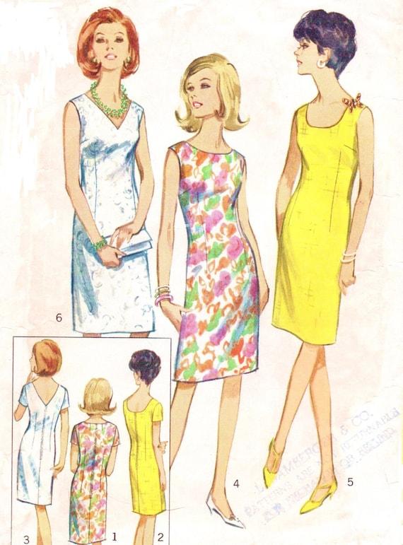 1960s Shift Dress Pattern Simplicity Sewing Pattern 6538 One - photo#3
