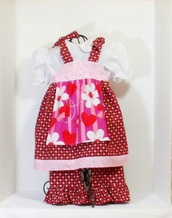 Girls ready to ship shabby chic ruffle pants outfit size 12 - Shabby chic outfit ideas ...