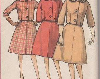 Bust 34 -FACTORY FOLDED 1960's Misses' Suit Siz 14 Simplicity 4136