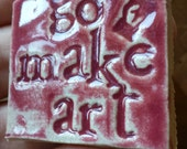 Go Make Art focal tile for mosaic or jewelry