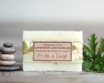 Customized bridal shower or wedding favor personalized bridesmaid gift idea all natural essential oil soap with kraft label shower to yours