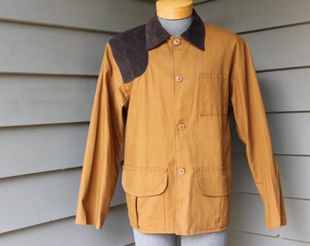 vintage 60's - 70's  -Redhead- Men's Birding jacket w/ game pouch. 'New Old Stock'. Corduroy trimmed. Large