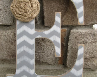 Custom chevron letters for home decor - 9 inch
