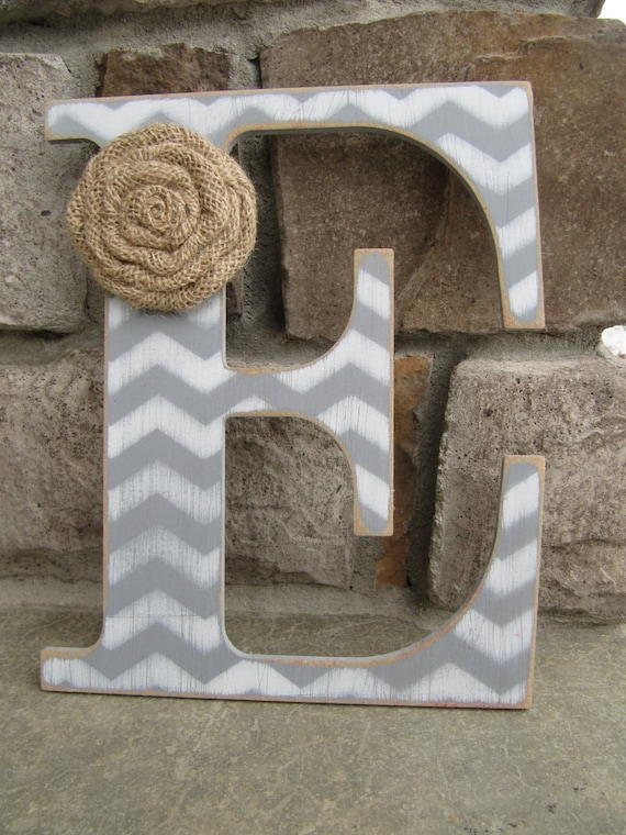 Custom chevron letters for home decor 9 inch for Decoration 9 letters