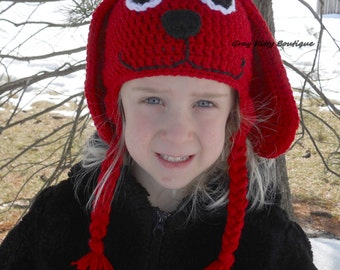 red dog hat clifford the big red dog hat clifford hat crochet clifford - Clifford The Big Red Dog Halloween Costume