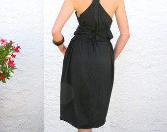 Women's Unique Dress, Organic, Sustainable, Slow Fashion - Black *FREE SHIPPING*
