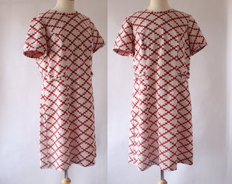 60s Polyester Knit Day Dress