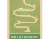 Hana Highway - 12x18 Retro Hawaii Travel Print