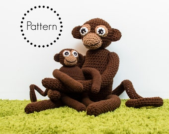 Crochet Monkey Pattern, Amigurumi Monkey Pattern, Crochet Toy Pattern, Amigurumi Monkey, DIY PDF