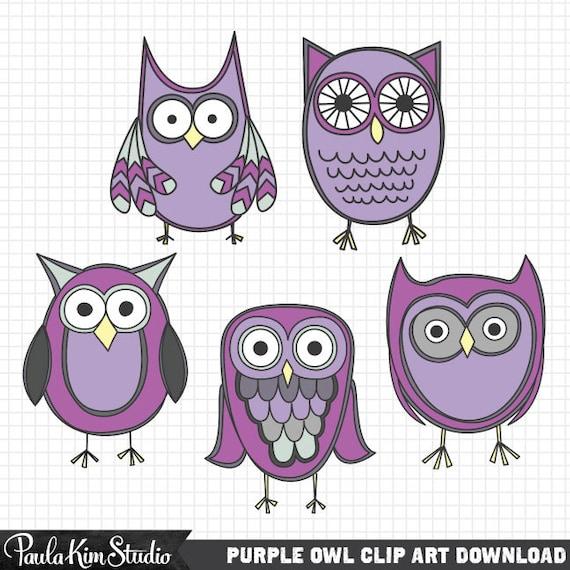 Purple Owl Clipart Cute Clip Art Owls Animal Clipart