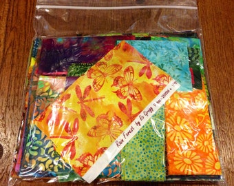 Fabric Destash** Awesome Generous 1/2lb Premium Designer Batik Cotton Scraps!! Grab Bag**