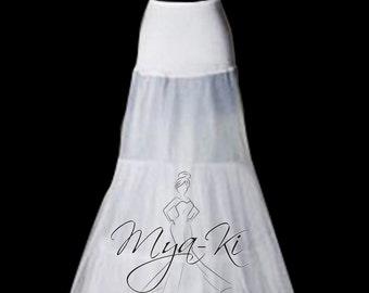 Bridal Petticoat underskirt Slip skirt mermaid 2 hoop petticoat