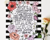 INSTANT DOWNLOAD - My Treasure Thou Art - Hand Lettered Print by Mandy England