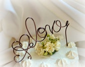 Rustic Cake Topper, Autumn Wedding Decor
