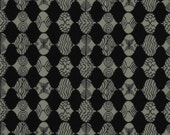 18 x 20 LAMINATED cotton fabric - Empire Tailcoat Curious Nature Parson Gray BPA free (aka oicloth, coated vinyl fabric)