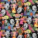 20 x 20 LAMINATED cotton fabric  (similar to oilcloth) - Los Novios Day of the Dead skull - Appproved for children's products