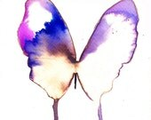 purple violet, pink and white butterfly original watercolour painting