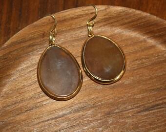 Drop Earrings - Chestnut Brown