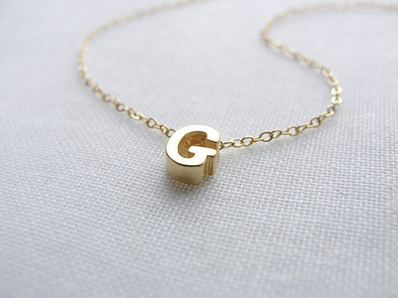 tiny gold capital letter necklace initial necklace personalized necklace small uppercase letter