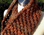Rustic Winter Cowl Unisex Knitted Cowl
