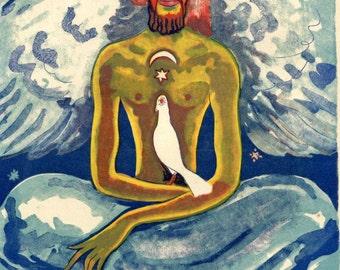 Kees van Dongen Illustration of Arabian Nights, Engraving after a Watercolor Le Roi des Hommes Ailés, Modern Art