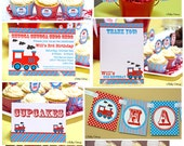 Vintage Train Birthday Party Mini Package...Custom, Printable DIY Package
