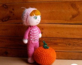 Amigurumi   Crochet doll Marisol, plush toy, gift, wool toy, toys, art doll