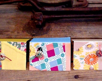 Patchwork Fabric Cards, Vintage Shabby Gift Tags, Prim Cutter Quilt Hang Tags, Old Nostalgic Place Setting Cards itsyourcountry