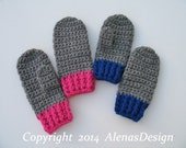 Crochet Mitten Pattern 104 for Childrens Mittens Abby  in four sizes - Mittens Patterns Crochet Glove Pattern Kids Mittens Toddler Child
