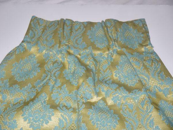 Vintage 60s 70s Pinch Pleat Drapes 1960s Curtain Pair Aqua