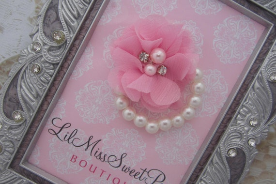 Pearl Baby Floral Bracelet for newborn photo shoots