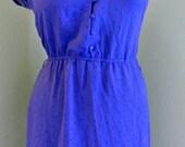 Vintage Sheer Purple Floral Dress